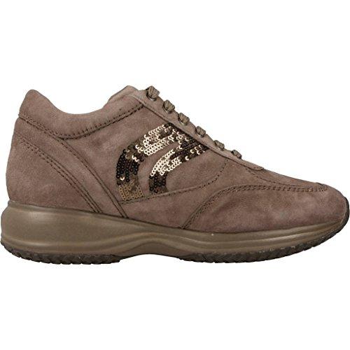 bajos zapatillas deporte C1006 de D 00021 feliz Gris de mujeres D5462A GEOX fxZnUwq4R5