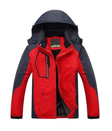 Giacca Dimensioni Trekking colore Red Cappotto Spesso Red Xl Caldo Montagna Più Invernale Sci In Uomo Alpinismo Da Pfsyr Velluto 1Fdqxa1
