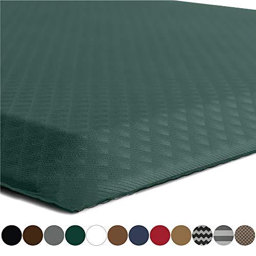 Kangaroo Brands Original 3/4 Anti-Fatigue Comfort Standing Mat Kitchen Rug (70x24), Phthalate Free, Non-Toxic, Waterproof, Ergonomical Floor Pad, Rugs Office Stand Up Desk (Hunter Green)