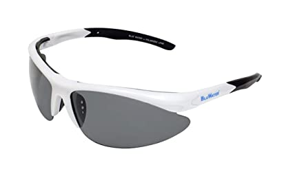 264a4f5c15d Image Unavailable. Image not available for. Colour  BlueWater Polarized  Islander 2 Line Sunglasses (Pearl White Frame Smoke Lens ...