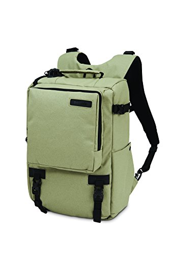 Pacsafe Camsafe Z16 Anti-Theft Camera and 13-Inch Laptop Backpack, Slate Green by Pacsafe