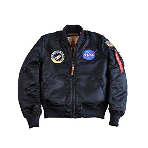 chaqueta NASA Logo VF Hombre MA 1 blue Verde Rep bombardero de Alpha Industries wYXZBB