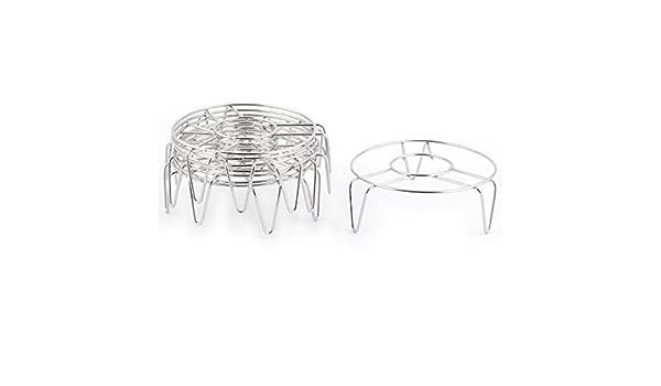 Amazon.com: eDealMax metal del hogar de la cocina de Ronda bollo de pescado al vapor bastidor soporte 8 piezas de plata del tono: Kitchen & Dining