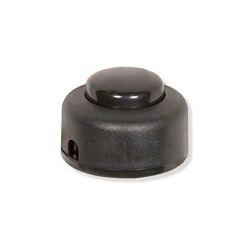 Satco 80-1163 – On/Off Push Floor Switch (STEP-ON-BUTTON ON/OFF PUSH FLOOR SWITCH BLACK) ()
