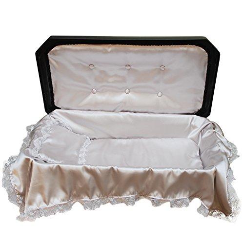 Pet Memory Shop Deluxe Pet Casket - Choose Color - Burial Casket (Small, Black/Silver)