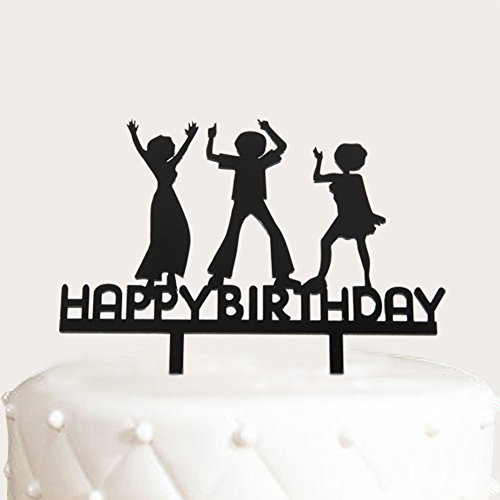 A Series Of Happy Birthday Dance Acrylic Cake Topper - Various Birthday Cake Supplies Decorations (Dance Theme Decorations)