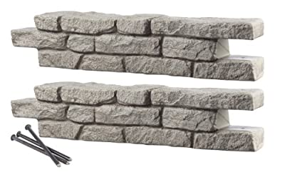 RTS Home Accents Rock Lock Interlocking Border System Straight Section with Spikes