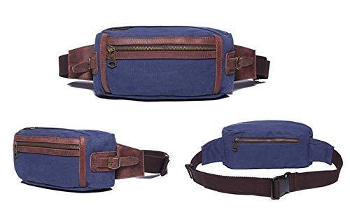 NANIH Home Sac de Taille pour Homme Sac de Poitrine Sports de Plein air épaule Messenger Sac à Dos (Bleu)