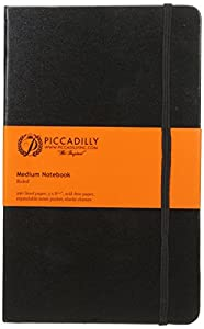 Hardcover Bound Book- Black- Medium (Lined Both Sides) Book