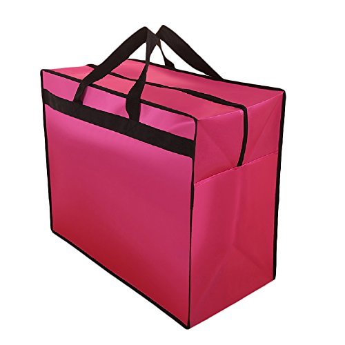 AliceHouse X-Large Breathable Wedding Gown Train Formal Dress Garment Bag Storage Carrying Suitcase Cover Bags FCZ010 Pink