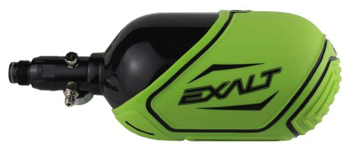 Exalt Carbon Fiber Tank Cover-Fits 68ci, 70ci, 72ci Paintball Tank-Lime w/Black by Exalt