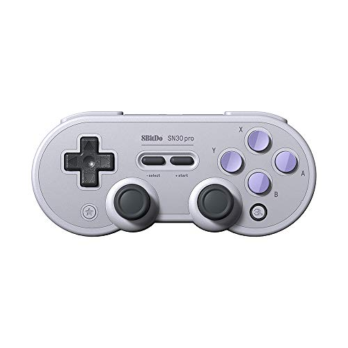 (Goolsky 8Bitdo SN30 PRO Retro Classic Controller BT Gamepad Switch Rumble Vibration)