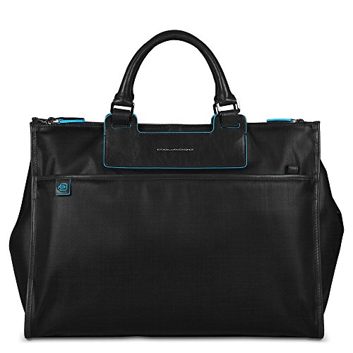 Piquadro Business Tote with Removable Notebook and iPad Mini Organizer Panel, Black, One Size by Piquadro