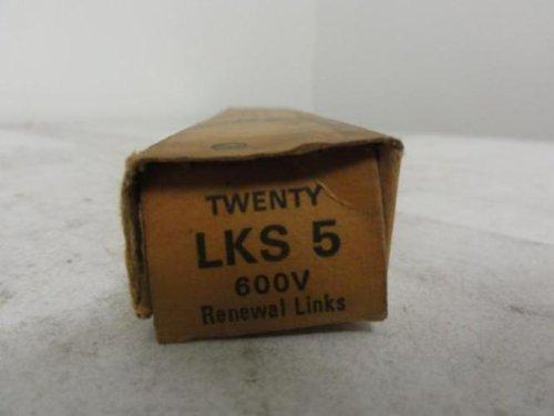Bussman LKS-5 Super Lag Link 5 Amp Pkg 20