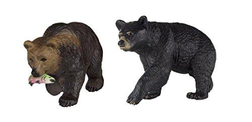 Safari Ltd Wild Safari North American Wildlife Grizzly Bear and Safari Ltd Wild Safari North American Wildlife Black Bear - North American Black Bear