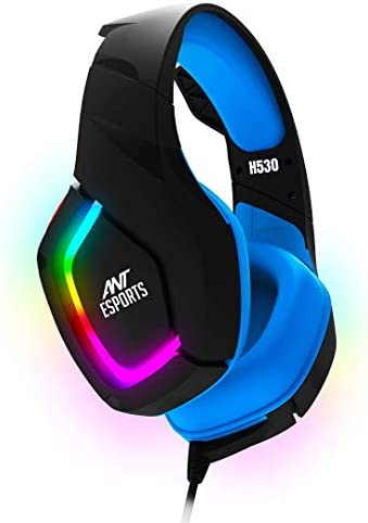 Ant Esports H530 Multi-Platform Pro RGB LED Wired Gaming Headset for PC/ PS4 / Xbox One/Nintendo Switch/Android/iOS – Black – Blue