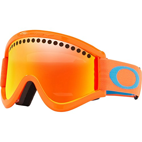 Oakley E-Frame Snow Goggles, Neon Orange Frame, Fire Iridium Lens, - Oakley Ski Goggles Fire Iridium