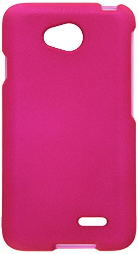 HR Wireless Rubberized Cover Case for LG Realm - Pink Lg Realm Phone Case