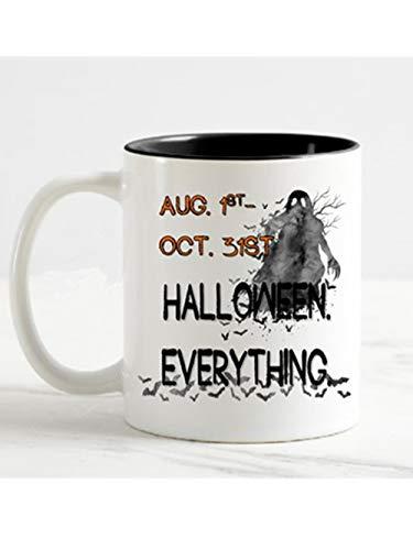 Freshine - Aug 1st - Oct 31st - Halloween Everything - Ghost and Bat Halloween Coffee Mug -11oz Ceramic Coffee Novelty Mug/Tea Cup, High Gloss]()