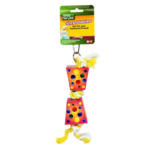Wild Harvest Shreddables Toy for Cockatiels/Parakeets/Caged