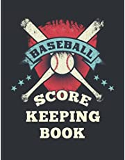 Baseball Score Keeping Book: Baseball Score Sheet Little League and Scoring Instructions Great for kids, Youth and Adult Baseball Lover