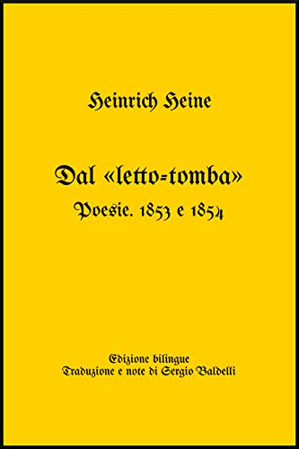 Amazoncom Dal Letto Tomba Poesie 1853 E 1854 Italian