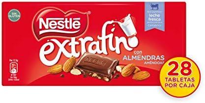 Nestlé Extrafino Chocolate con Leche y Almendras - Tableta de ...