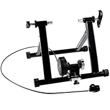 Indoor Bike Trainer Ohuhu Foldable Magnet Steel Bicycle Indoor Exercise Trainer Stand - Black