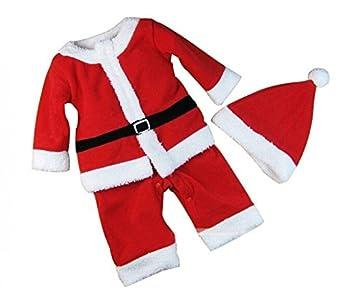 e7ad75764849a SUJESI クリスマス 子供服 帽子付き 赤ちゃん サンタ コスチューム 女の子 男の子 寝相 衣装 着ぐるみ ベビー服