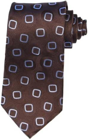 Magnoli Clothiers Doctor Who Style Shakespeare Pure Silk Tie (Brown)