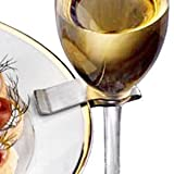 Stainless Steel Wine Glass Plate Clips - The Green Head