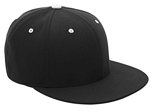 - Flexfit Team 365 Pro Performance Contrast Eyelets Cap (ATB101)- Black/Whte,Large/X-Large