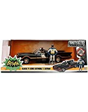 1966 Classic TV Series Batmobile with Batman and Plastic Robin in The car 1/24 Model Car by Jada