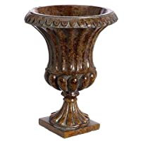 Decorative Urn Floral Vase in Brown - 8.75