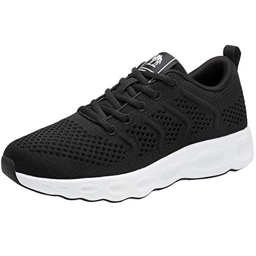 CAMEL Running Shoes Men s Breathable Lightweight Walking Shoes Stylish Fly-Knit Sneakers Comfortable Athletic Shoes Summer
