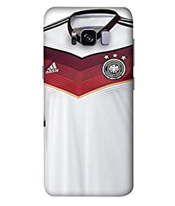 ColorKing Football Germany 11 White shell case cover for Samsung S8 Plus
