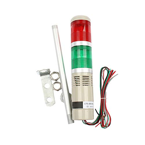 LUBAN Industrial Signal Light Column LED Signal Tower Lamp Warning Stack Light Steady On (110V)