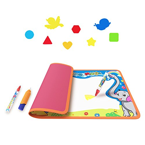 Toyk Aquadoodle Mat Kids Toy Water Doodle Mat and 3 Magic Pens Color Children Water Drawing Pad Board and Aqua Doodle Pen for Boys Girls Doodle Learning Toy Best Educational Aqua Girls Watch