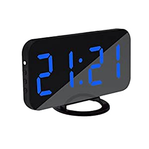 magideal led digital alarm clock with dual usb charging port for rh amazon com au