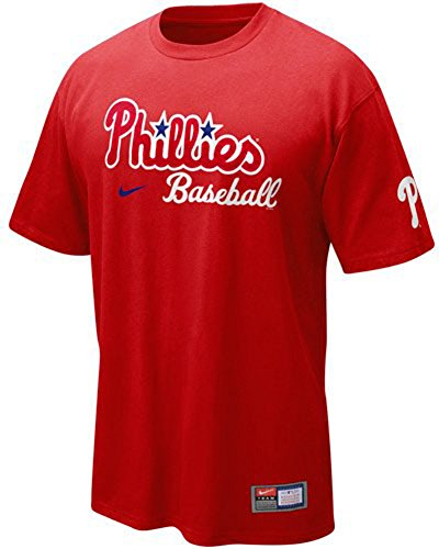 Shirt Sleeve Short Nike Mlb (Nike Philadelphia Phillies Red 2011 MLB Practice T-shirt (X-Large))
