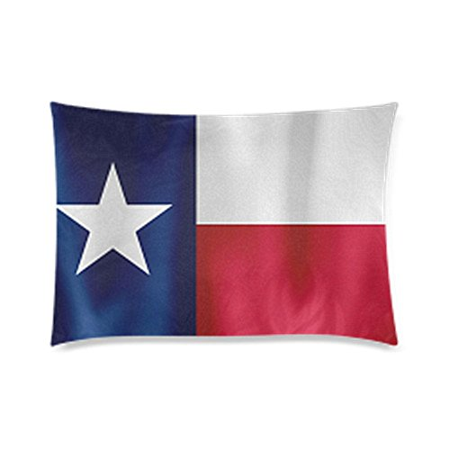 Texas State Flag Pillowcase - Zippered Pillowcase, Pillow Protector, Best Pillow Cover - Standard Size 20x30 inches, One-sided Print