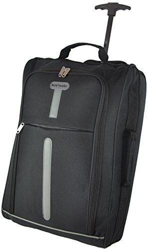 World Traveller Flight Approved Feather Light Weight Cabin Carry On Hand Luggage Roller Suitcase Bag Trolley Perect For Easyjet Ryanair Thomas Cook By World Traveller By Vivo