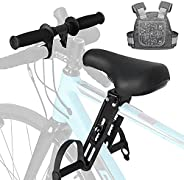 NIUAWASA Kids Bike Seat with Safety Harness, Detachable Front Mounted Child Bicycle Seats with Foot Pedals for