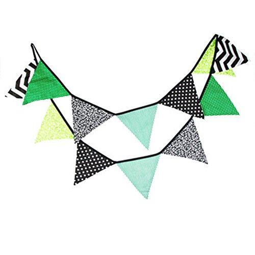 kanggest Fanions Guirlande Banderole Halloween Decoration a Suspendus Pendaison de Papier pour F/ête de Mariage Anniversaire Vert+Noir