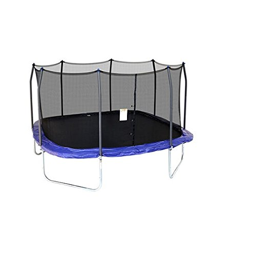 Skywalker Trampolines Square Trampoline with Enclosure, Blue, 15-Feet by Skywalker Trampolines