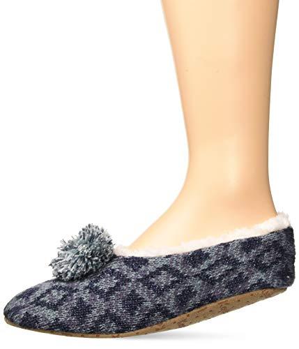 Keds Women's Diamond Slipper Socks, denim heather, Shoe Size: 4-10
