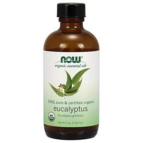 Now Essential Oils, Organic Eucalyptus Globulus Oil, Clarifying Aromatherapy Scent, Steam Distilled, 100% Pure, Vegan, 4-Ounce 100% Pure Organic Eucalyptus