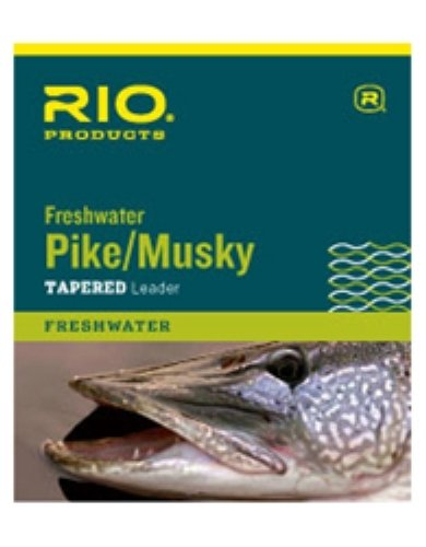 Musky Pike Leaders (RIO Fly Fishing Pike/Musky II 7.5' 20Lb Class 20Lb Knott able Wire Fishing Leaders, Clear)