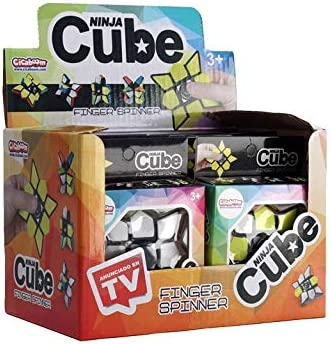 Sbabam Ninja Cube - Pack de 8 Finger Spinners: Amazon.es: Juguetes y juegos