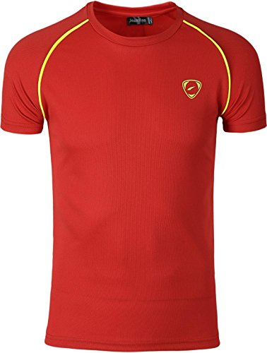 White Sportswear Dry T Packs 3 Short shirt Lsl182 Slim Black Lsl182 packm Red Sleeves Compression Quick Jeansian Tee Homme Sport C0qw5xFH1